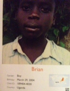 Bryan- World Vision Sponsored Child - Uganda